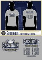 SJHS Volleyball Back to Back Tee by tbtyler