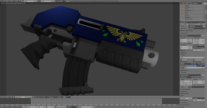 Warhammer 40k Bolter by smartbad