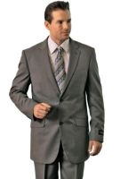 Polyrayon mens grey classic suit by mensusasuits