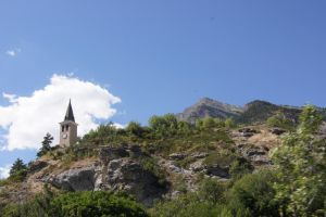 Bell tower on the mountain by Altair-E-Stock