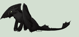 Toothless by alajna