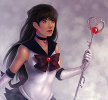 sailor pluto paint by TwinklePowderySnow