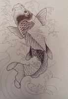 Unfinished Koi Fish by Stacey2512
