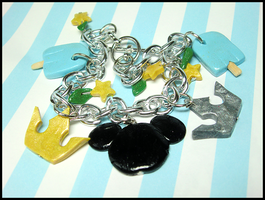 Kingdom Hearts Bracelet by GrandmaThunderpants