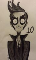 The Tenth Doctor, Tim Burton Style by Crimson-Ripper