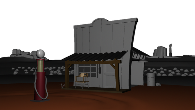 Modeled Gas Station by Chris000