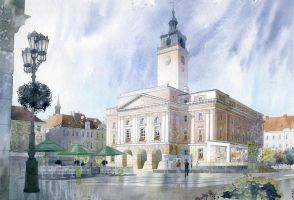 Kalisz Town Hall by GreeGW
