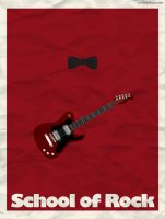 Minimal School of Rock Poster by oneskillwonder