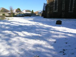 snow, churchyard  oct 29th 21 by dark-dragon-stock