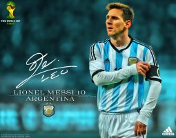Lionel Messi 2014 Wallpaper by jafarjeef