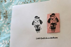 Isabelle Animal Crossing New Leaf Stamp by Littel-Gerll