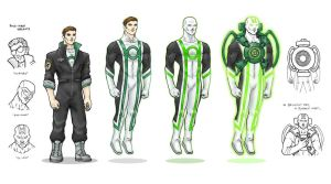 Green Lantern Redesign by Christhopper