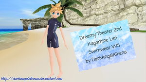DT Kagamine Len Swimwear WS DL (Fixed Password) by DarkAngelAlhena