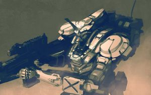 Reloading Mecha Sketch by Talros