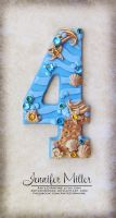 Sunken Treasure Number Cake Topper by ArteDiAmore