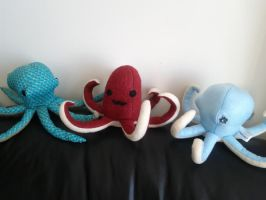 Cephalopods say goodbuy by LovelyLittleLemon