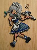 Touhou Project Izayoi Trainer Perler beads by Cimenord