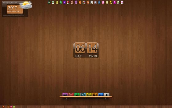 Wooden Desktop by twilight-nexus