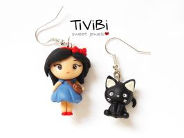 Kiki and Jiji charm earrings by tivibi