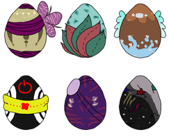 COLLAB: Feline Mystery Eggs 20 [Closed] OTA by Kyou-Adoptables