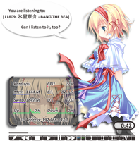 Alice Margatroid Rainmeter by Kaza-SOU