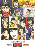 Vampirella sketch cards by ChrisOzFulton