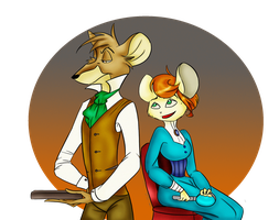 Basil and Catherine by AmeliaWolfe