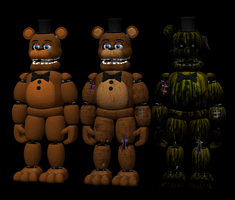 Fnaf 2-3 Freddy pack by RealMoonlight