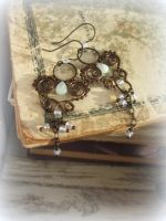 Wire Wrapped Chandelier Earrings by Lirimaer86