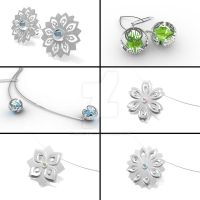 Silver Kirie Collection by annielijewellery