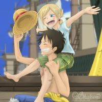 walk with Luffy so fun by AvAmri