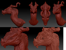 Zbrush Dragon by AbelPhee