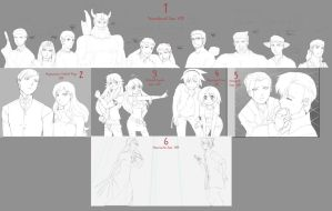 Commissions + Prize WIPS by NoVaNoah