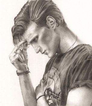 Graphite Portrait -- Matt Smith by indigoatmosphere