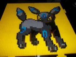 Shiny Umbreon Perler by Libbyseay