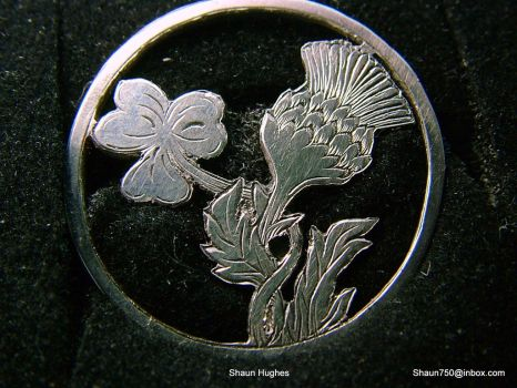 Shamrock and Thistle tie pin by shaun750