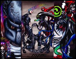 Nue VS Predator :  Phantasmagoria 2012 by AyatoNyaa