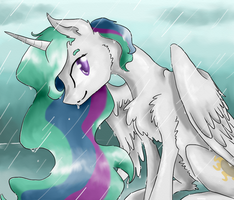 Beauty in the Rain by NicoTheMintyRabbit