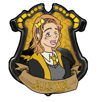 HOGWARTS BADGE - ALEXA - for Desiree-U by BearlyPunk
