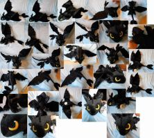 Toothless the Night Fury (commission, huge size) by Rens-twin