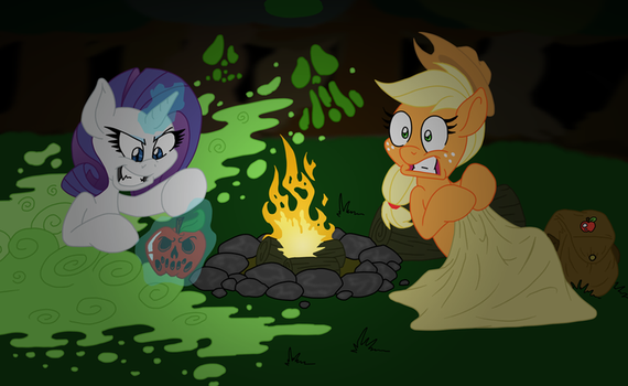 Rarity's New Ghost Story COLOR by Anime-Apothecary