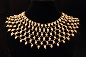 Cleopatra's Pearl Collar by MenatDesigns