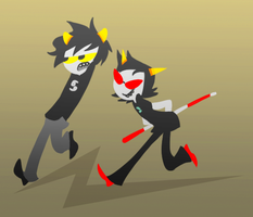 Karkat and Terezi by Kjbionicle