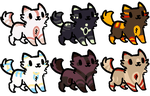 Cat Adopts (5/6 open) by WodsAdopts