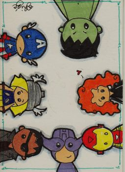 Tiny Avengers by eileenshige
