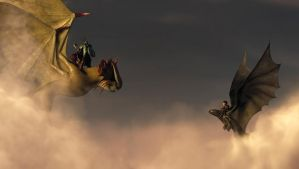 HTTYD:The Cloud Jumper meets Hiccup and Toothless by Lifelantern