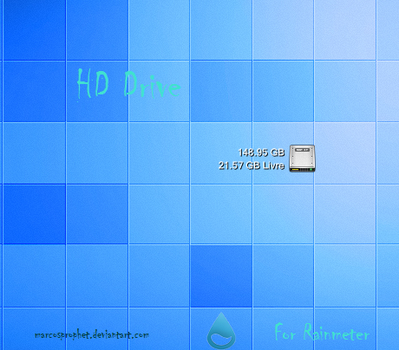 HDD Drive for Rainmeter by MarcosProphet