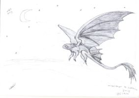 night fury sketch by lithesay