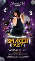 Shake It Party Flyer by outlawv15