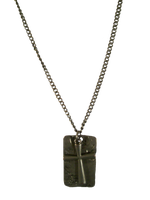 Worn DogTag w/Cross by protectorshade